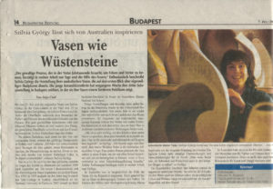 Profiled in the Budapest Zeitung in 2003