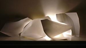Fold-Unfold Paper Light by Szilvia György