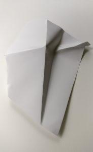Paper fold sculpture by Szilvia György