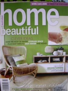 Szilvia Gyorgy on front cover Home Beautiful Cover 0703