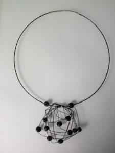 Stainless steel onyx neck piece