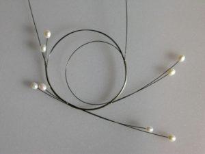 Swirl 2 - stainless steel pendant
