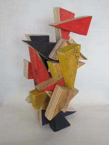 To the Point, with James McCallum, 50 x 26 x 24 cm, timber, paint